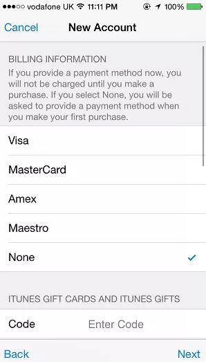 How to Avoid Using Credit Card When Create a New Apple ID