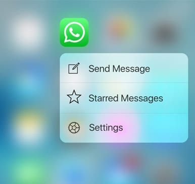 whatsapp 3dtouch