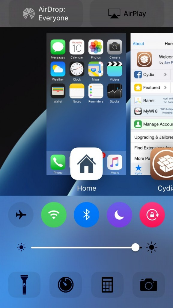 cream tweak for iOS 9