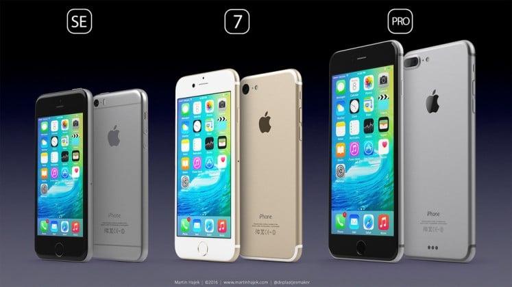 iPhone SE rendering by Martin Hajek