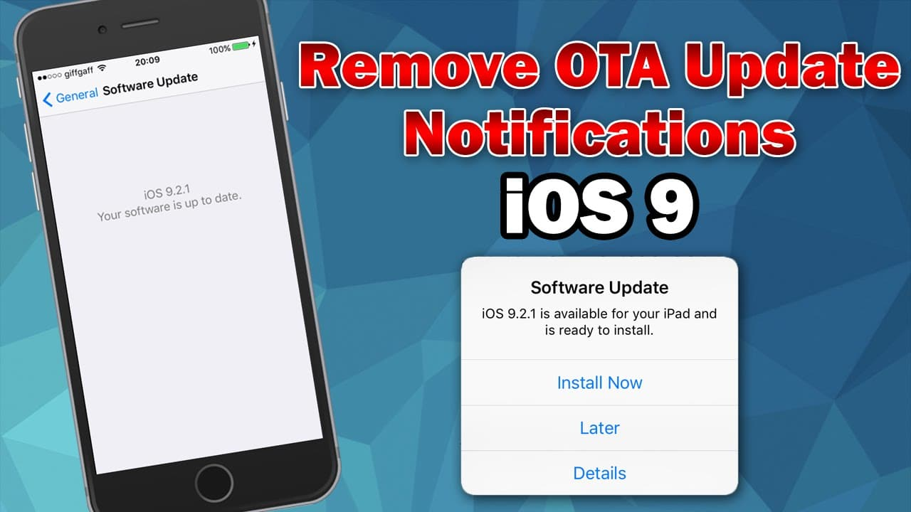 how to update a jailbroken iphone how to block ota update on iphone without jailbreak 1408