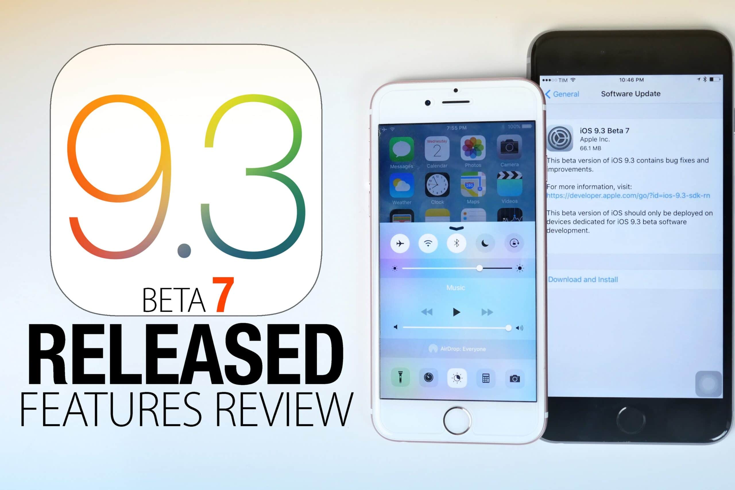 Download and Install iOS 9 3 beta 7 (13E5233a / 13E5234a) Ipsw Links