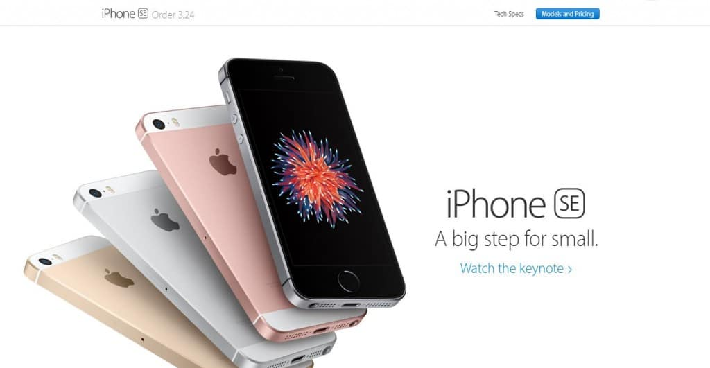 preorder iPhone SE