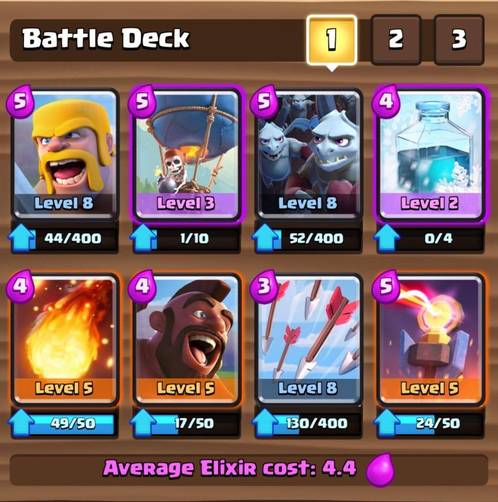 Best clash royale decks and cards collection apple lives for Clash royale deck molosse