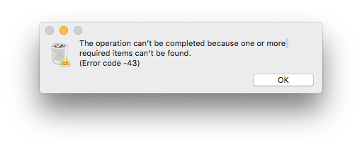 fix error -43 on Mac