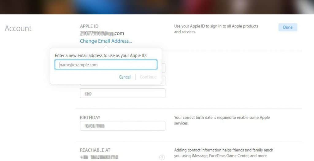 how to change you sign on password in apple