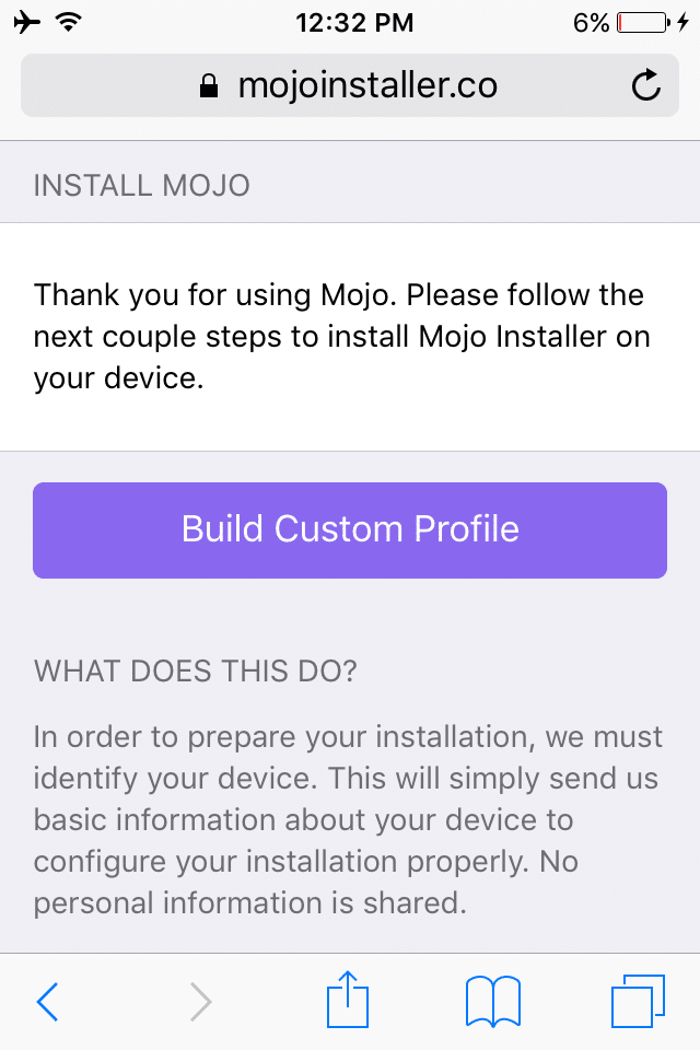 mojo-installer-build-custom-profile