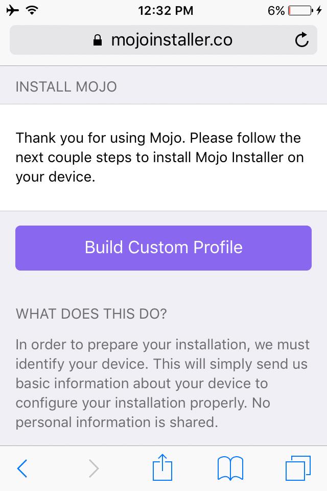 mojo-installer-build-custom-profile
