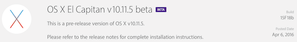 osx 10.11.5