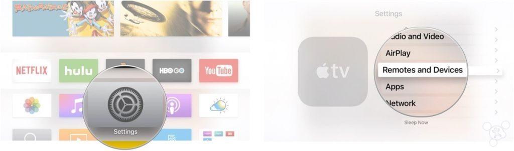 settings app on apple tv
