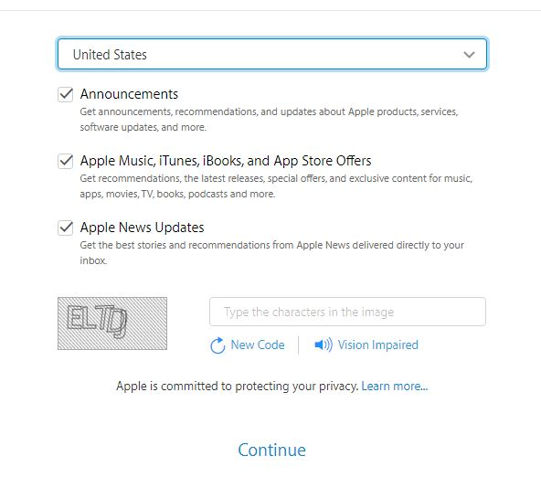 create a new apple id free