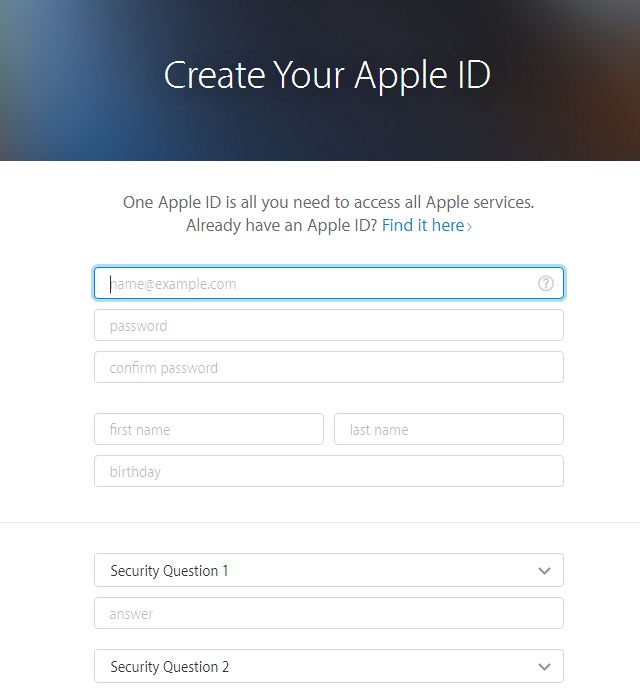 How to create new apple id without credit card details